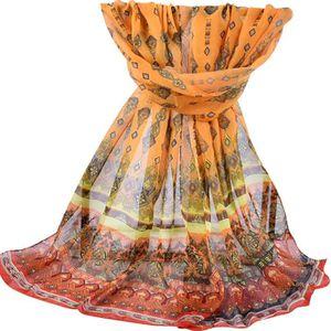 74ef74923941 ECHARPE - FOULARD Foulard en mousseline de soie châle imprimé femme ...
