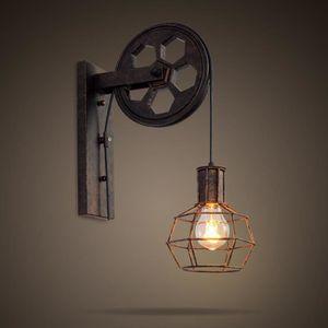 APPLIQUE  Style industriel de poulie lumineuse de cages de l
