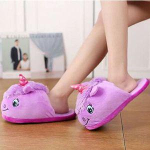 CHAUSSON - PANTOUFLE Femmes mode fantaisie violet pantoufles de licorne 86e4b6a9b564