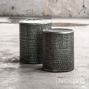 TABLE D'APPOINT Table d'appoint industrielle métal FAUSTO (lot de