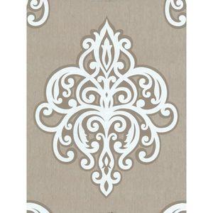 Papier peint blanc paillette - Achat / Vente pas cher