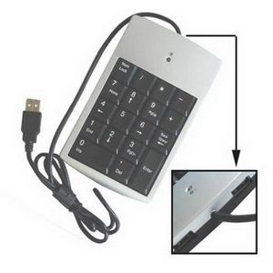 PAVÉ NUMÉRIQUE Pavé numérique USB avec 18 touches avec hub (Noir)