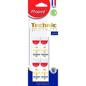 JEU DE COLORIAGE - DESSIN - POCHOIR MAPED - Carton de 4 Gommes Technic 600 Premium