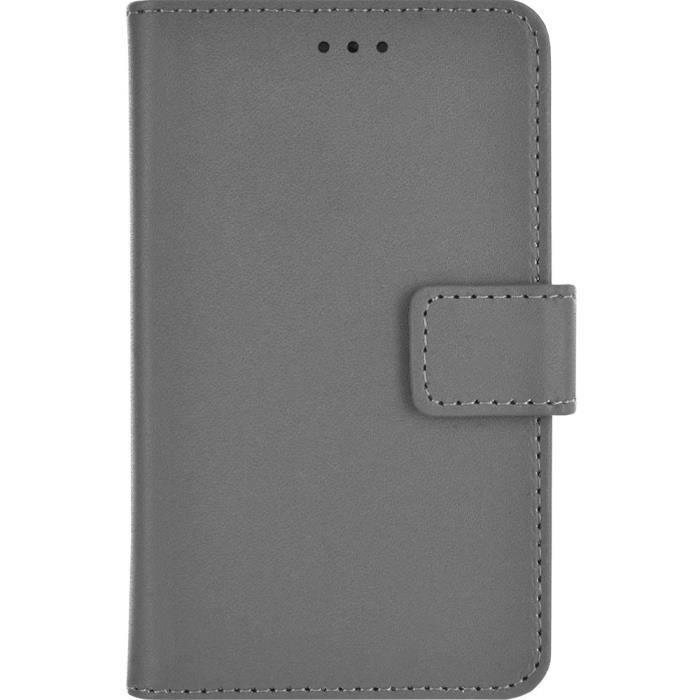 BIGBEN Etui de protection folio universel XS pour smartphone - Gris
