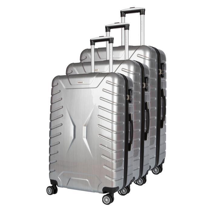 ABS et polycarbonate - 3 formats : cabine, intermédiaire et maxi 48 / 58 / 68 cm - Serrure à codes - 8 rouesSET DE VALISES