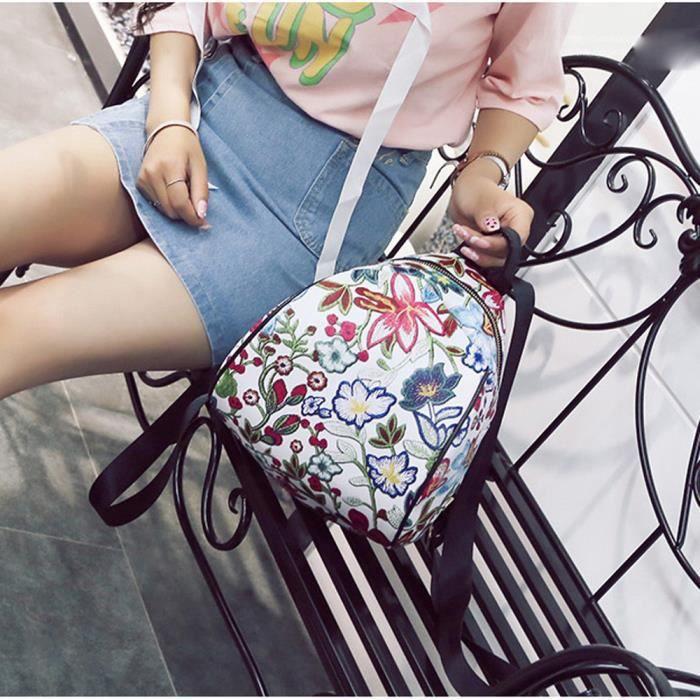 8407988043 ... femme fleur sacs de voyage cartable Rose. SAC À DOS Vintage broderie  ethnique toile sac à dos ...