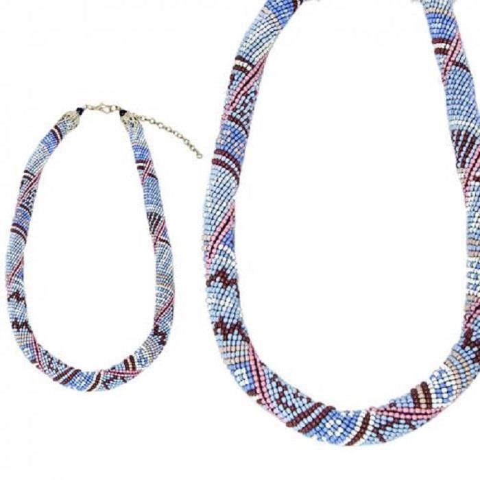 Collier Perle Bleu Navajo