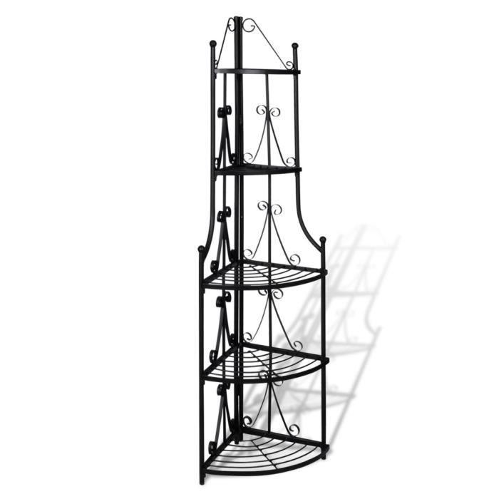 magnifique etagere d angle pour plantes en noir achat vente meuble tag re magnifique. Black Bedroom Furniture Sets. Home Design Ideas