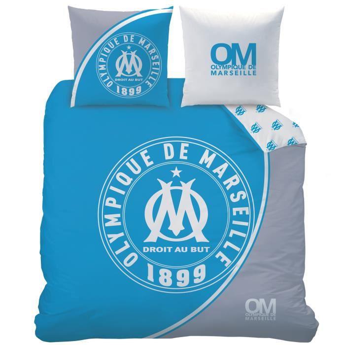 Housse De Couette Om Olympique De Marseille 1899 2 Taies D