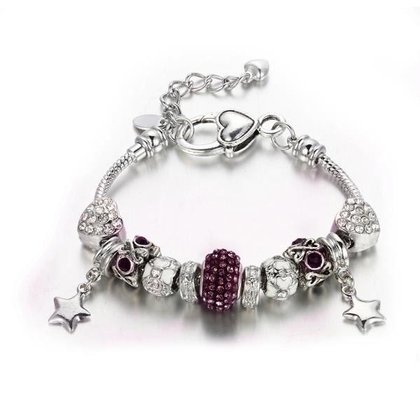 BRACELET - GOURMETTE Bracelet Charm's Coeur, Cristal de Swarovski Eleme