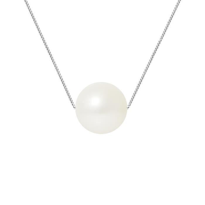 SAUTOIR ET COLLIER PERLINEA Collier Perle de Cutlure et Argent 925° F