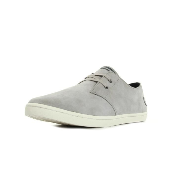 Baskets Fred Perry Byron Low Suede 1964 Silver Charcoal
