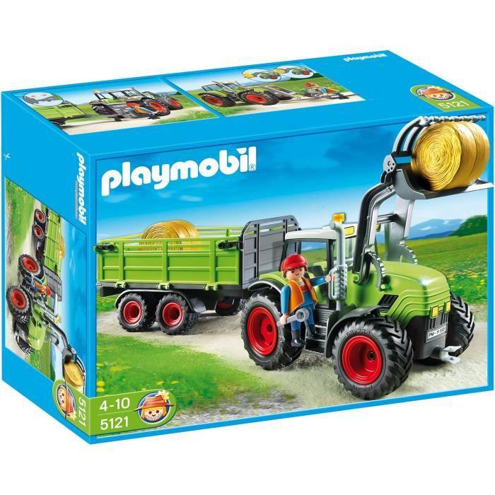 Playmobil 5121 grand tracteur avec remorque achat - Mousse a la decoupe pas cher ...