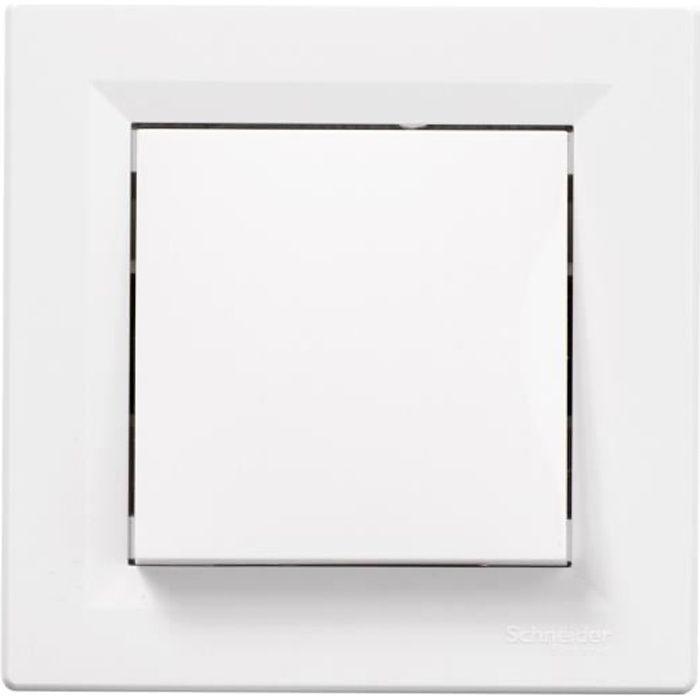schneider electric interrupteur poussoir encastrable asfora 10 a achat vente interrupteur. Black Bedroom Furniture Sets. Home Design Ideas
