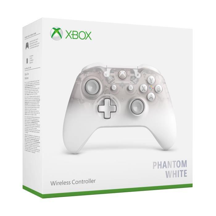 MANETTE JEUX VIDÉO Manette Xbox Sans Fil Edition Spéciale Phantom Whi