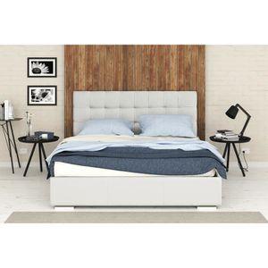 lit metal et bois 160x200 achat vente lit metal et bois 160x200 pas cher cdiscount. Black Bedroom Furniture Sets. Home Design Ideas