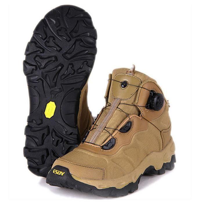 Chaussures montantes randonnée de –Kaki BOA ESDY Homme qdCzSwAnx