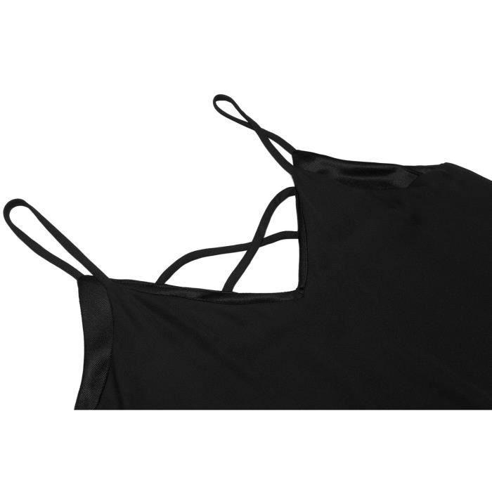 Robe de mousseline de soie plage femmes Spaghetti Strap sans manches