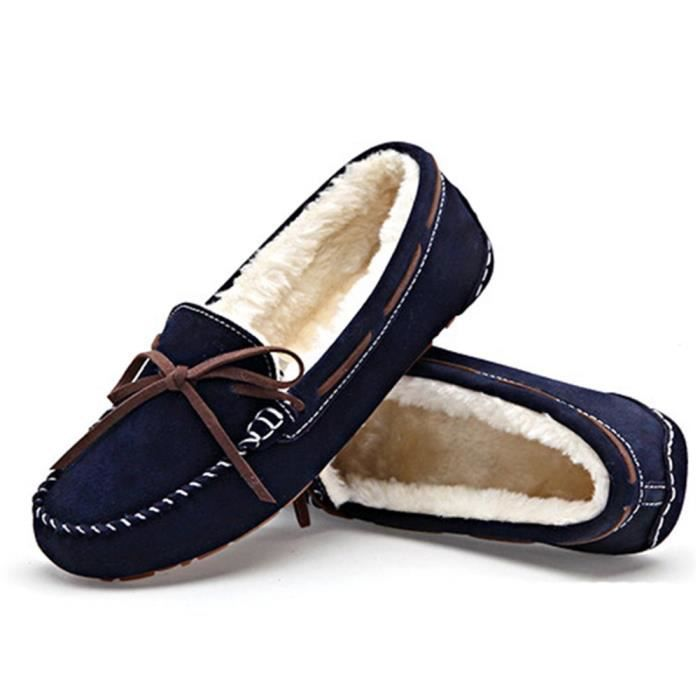 Loafers Lighweight Bow Flat Boat Slip-ons Driving Shoes AA8HW Taille-36