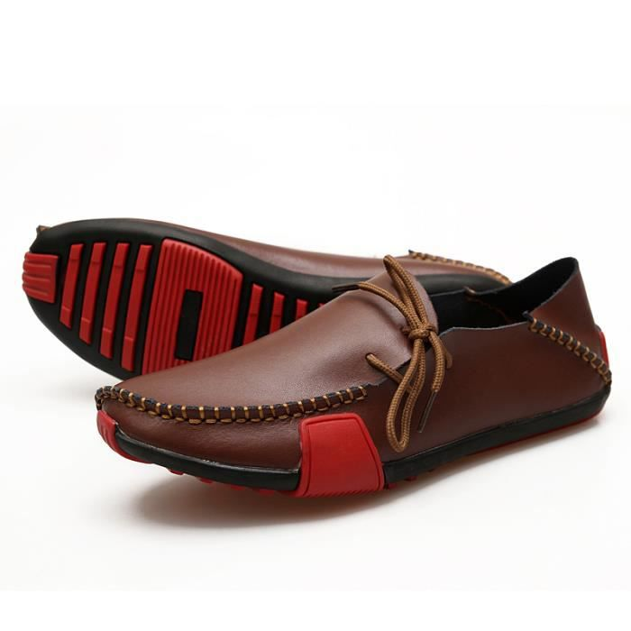 Homme Mocassin Printemps Chaussure Casual en Cuir Grande taille 39-47