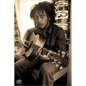 AFFICHE - POSTER Bob Marley Poster - Sepia, Guitare (91 x 61 cm)