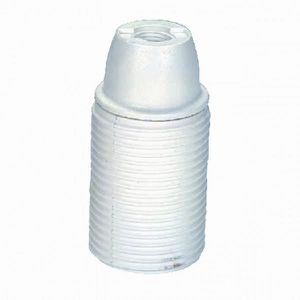 VOLTMAN Accessoire d'Eclairage Douille Filetée Plastique Blanc