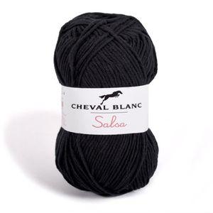 LAINE TRICOT - PELOTE Pelote de laine - SALSA - Noir - 012 3,5 f8b3d601753
