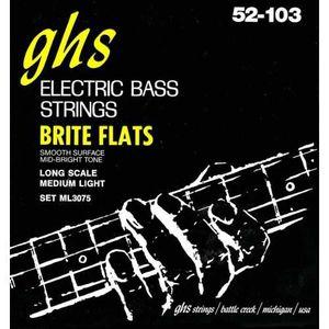 CORDE POUR INSTRUMENT GHS 3075ML Brite Flats - Jeu de cordes Medium Ligh
