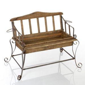banc bois et fer achat vente pas cher. Black Bedroom Furniture Sets. Home Design Ideas