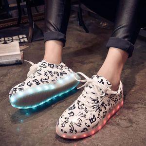 Femme Homme USB LED Light Lumière Shoes Party S... 4nc7T