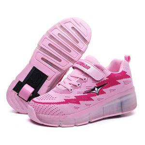 SKATESHOES Baskets Enfants Heelys Chaussures à Roulettes USB af98f5eb0a49
