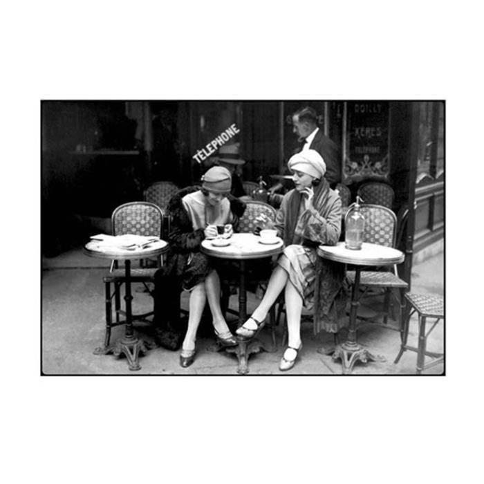 Affiche papier -  Café et Cigarette, Paris, 1925  -...