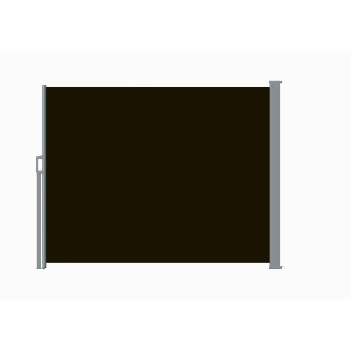 CLÔTURE - GRILLAGE Brise vue Rétractable START 2.0 Alu  Toile Noir L3