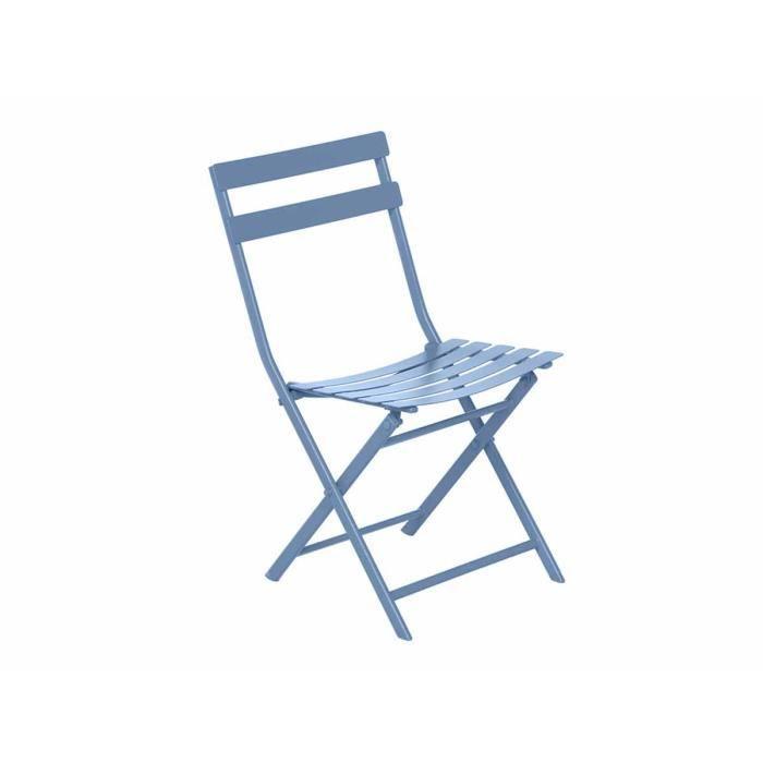 Chaise de jardin métal pliante GREENSBORO Bleuet - Achat / Vente ...