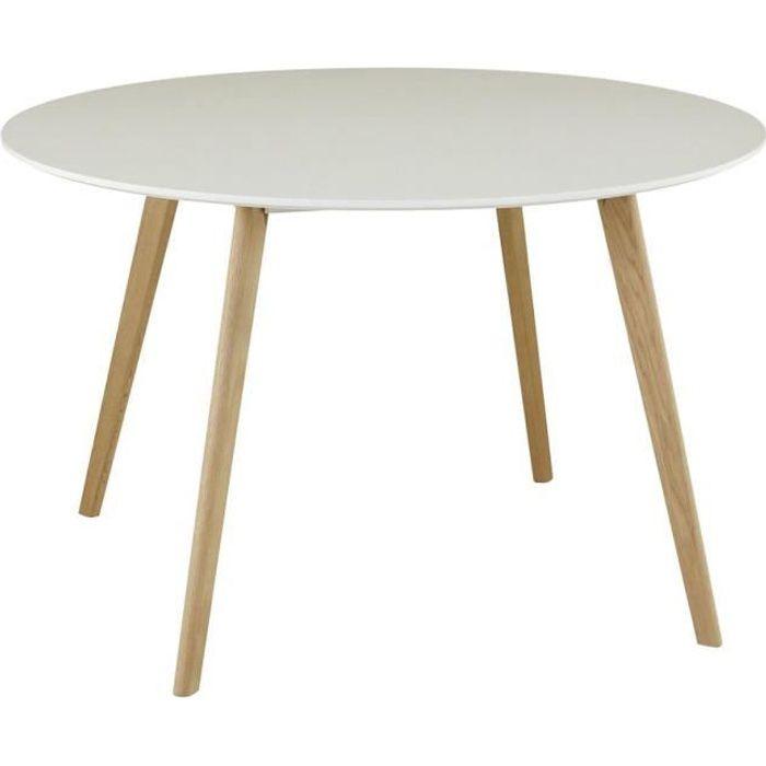 table ronde laque blanc achat vente table ronde laque blanc pas cher cdiscount. Black Bedroom Furniture Sets. Home Design Ideas