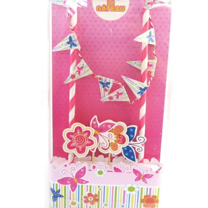 Decoration gateau anniversaire fille achat vente - Decoration anniversaire fille pas cher ...