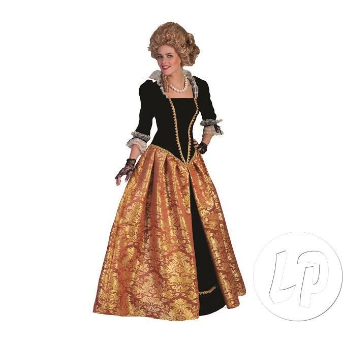 Robe baroque marie-christina orange femme taille s 8b8a6a93ecdc