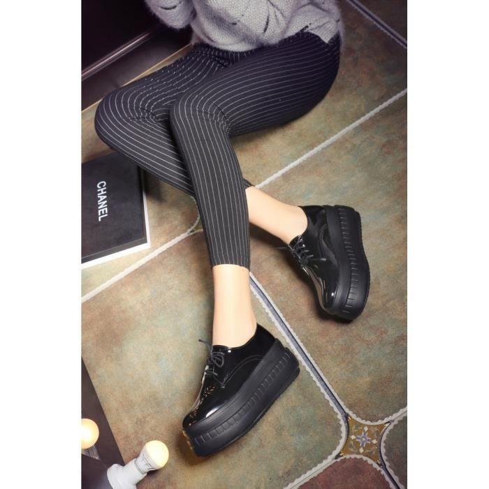 chaussures de skate-Pure Color Lace Toe jusqu  ...