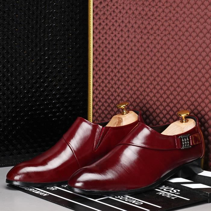Homme Cuir Mocassin Chaussures Formel Flats Jau...