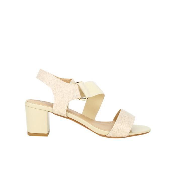 Sandales Femme Beige sandale nu Cendriyon Chaussures pieds HnRxFap