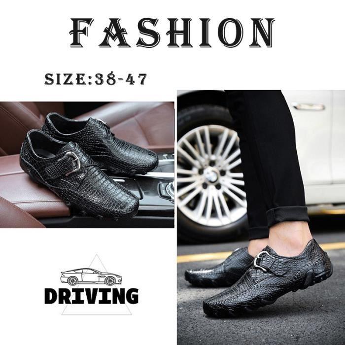 2017 de haute qualité conduite Mocassins pour hommes d'affaires New Mode Chaussures confortables Chaussures en cuir