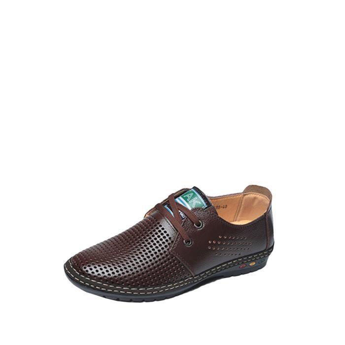 Chaussures pour homme formelles couleur unie Croisement évider Business Shoes 4066214