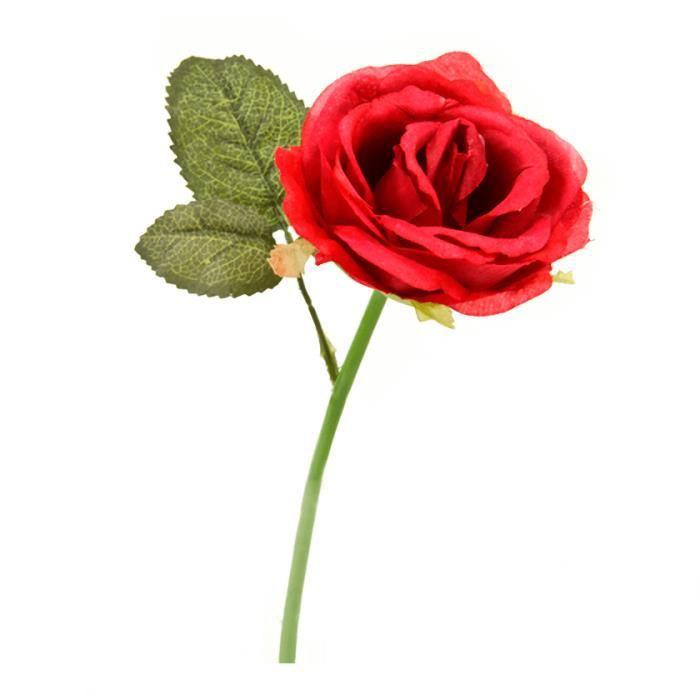 Fleur Rose Rouge 27cm X1 Ref Ftg3004 Achat Vente Fleur
