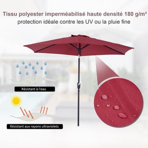 parasol inclinable achat vente parasol inclinable pas cher cdiscount. Black Bedroom Furniture Sets. Home Design Ideas