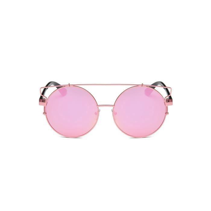 LJL70303131A@Femmes Hommes Vintage Retro Lunettes Unisexe Mode Aviator Mirror Lens Lunettes de soleil