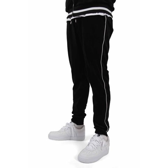 Pantalon jogging velvet à liserés Project X Paris (M - Noir) Noir Noir -  Achat   Vente survêtement - Soldes  dès le 9 janvier ! Cdiscount fa98b4cd1c98