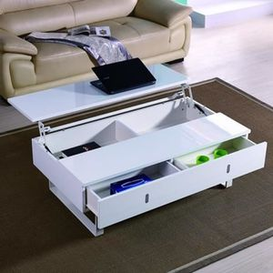 table basse relevable blanc achat vente table basse. Black Bedroom Furniture Sets. Home Design Ideas