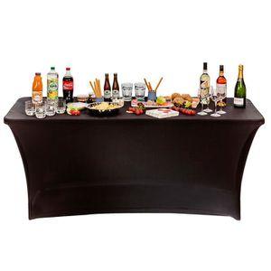NAPPE DE TABLE Noir Housse nappe pour table pliante 180 cm. Compo