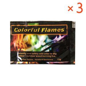 CHEMINÉE 3 Packs feu mystérieux campfire cheminée colorant
