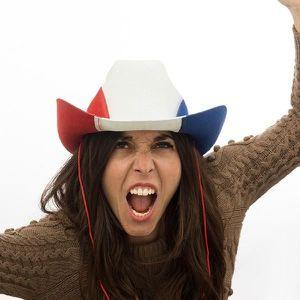 SOMMIER Chapeau de cowboy avec couleurs du drapeau françai